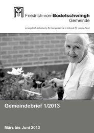 März - Juni 2013 - Bodelschwingh-Kirche
