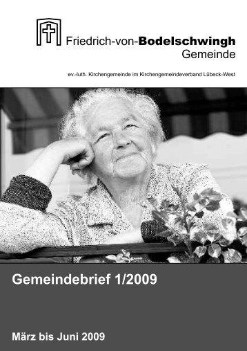 Gemeindebrief 1/2009 - Bodelschwingh-Kirche