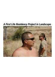 A First Life Residency Project in Landscape - Imagine Australia