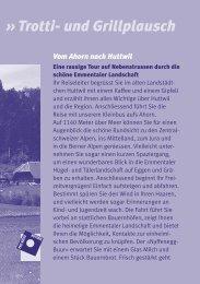 Trotti- und Grillplausch (PDF) - in der Region Huttwil