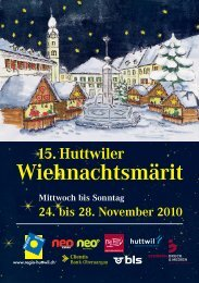 Wiehnachtsmärit - Oberaargau Tourismus
