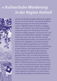 Kulinarische Wanderung in der Region (PDF) - in der Region Huttwil