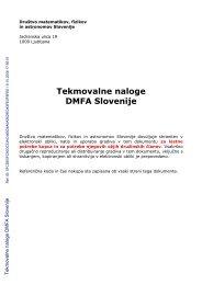 Tekmovalne naloge DMFA Slovenije - Shrani.si