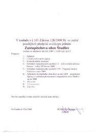 Zastupitelstva obce Studlov - Webnode