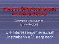 Präsentation zur ÖPNV-Schnittstelle - Die Unstrutbahn