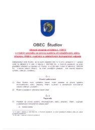 OBEC Studlov - Webnode