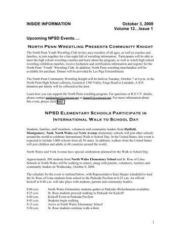 INSIDE INFORMATION October 3, 2008 Volume 12…Issue 1 ...