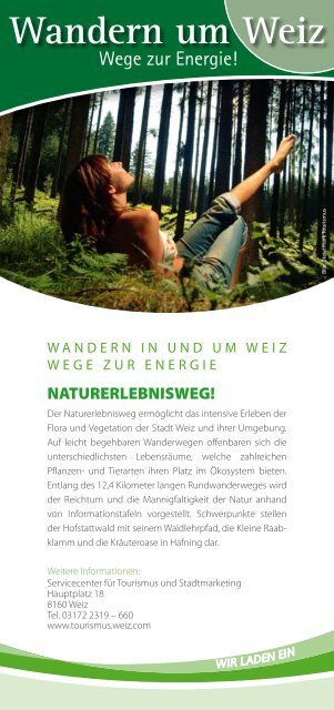 Naturerlebnisweg (PDF 232kB) - Tourismus Weiz