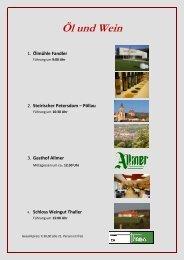 Tagesprogramm Öl und Wein - Tourismus Weiz