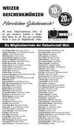 Liste herunterladen (461kB) - Tourismus Weiz