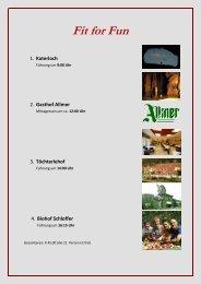 Tagesprogramm Fit for Fun - Tourismus Weiz