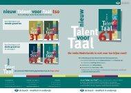 nieuw Talent voor Taal tso - Uitgeverij De Boeck