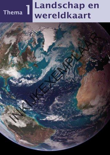 Landschap en wereldkaart