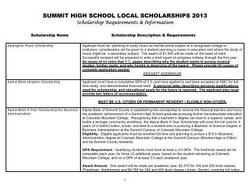 School located in santa c for Scholarship guidelines template