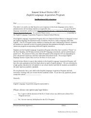 Summit School District RE-1 English Language Acquisition Program