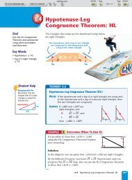 5.4 Hypotenuse-Leg Congruence Theorem: HL