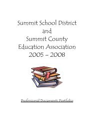 Article I - Definitions - Summit School District
