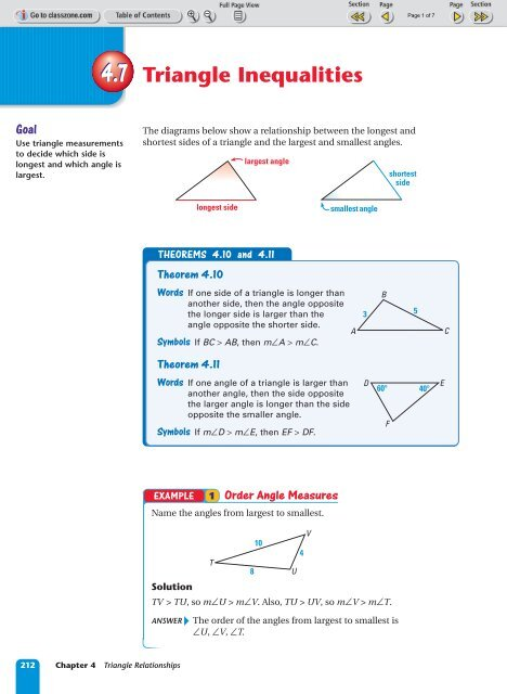 4.7 Triangle Inequalities