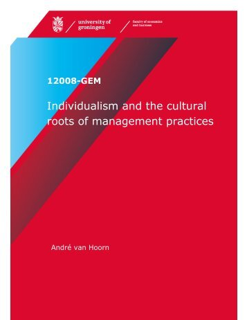Individualism and the cultural roots of management practices