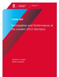 Participation and Performance at the London 2012 Olympics