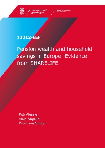 Pension wealth and household savings in Europe: Evidence from ...