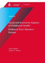 Social and Economic Aspects of Childhood Health - SOM Research ...