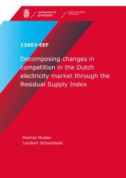 Decomposing changes in competition in the Dutch electricity market ...