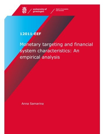 Monetary targeting and financial system characteristics: An empirical ...