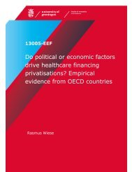 Do political or economic factors drive healthcare financing ...