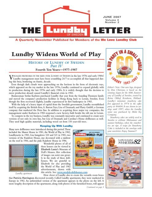 e9310f4cecae Volume 4, Number 2 - We Love Lundby Club