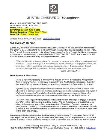JUSTIN GINSBERG: Mesophase - Artforum