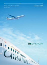 Cathay Pacific Airways Limited Annual Report 2010