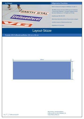 Layoutvorlage Fußbodenaufkleber (PDF)
