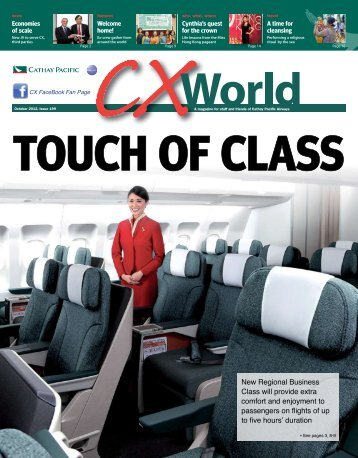 Comfort and enjoyment to passengers on flights of up - Cathay Pacific