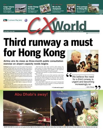 June 2011 - Cathay Pacific