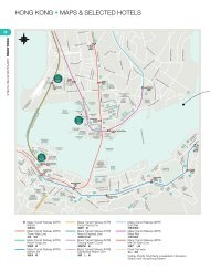 HONG KONG • MAPS & SELECTED HOTELS - Cathay Pacific