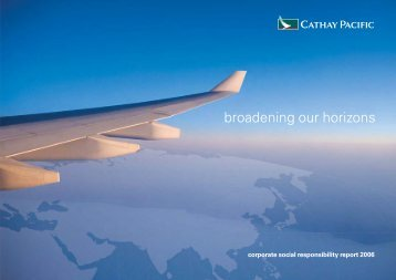 Corporate Social Responsibility Report 2006 - Cathay Pacific