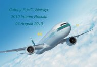Interim Result - Cathay Pacific