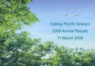 Annual Result - Cathay Pacific
