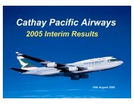 2005 Interim Results Presentation - Cathay Pacific