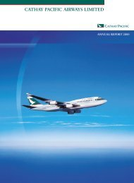 Annual Report 2000 - Cathay Pacific