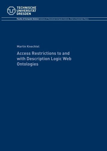 Access Restrictions to and with Description Logic Web Ontologies