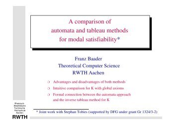 A comparison of automata and tableau methods for modal satisfiability
