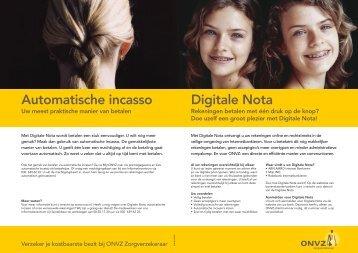 Digitale Nota Automatische incasso - Onvz