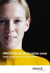 Brochure ONVZ Vrije Keuze Zorgplan 2009