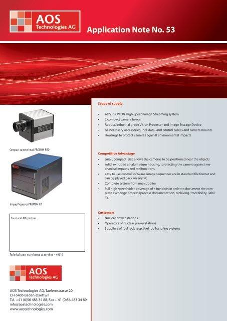 Application Note No. 53 - AOS Technologies AG