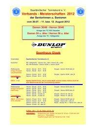 Verbands - Meisterschaften 2012