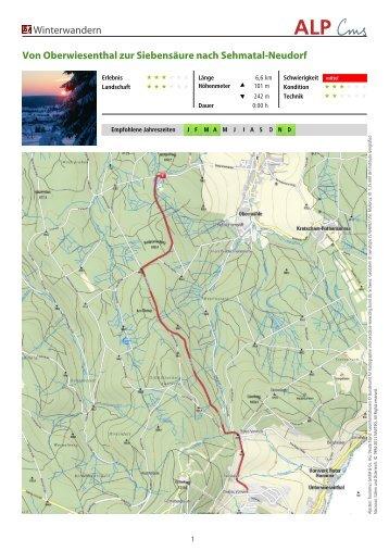 Von Oberwiesenthal zur Siebensäure nach Sehmatal-Neudorf