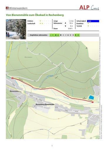Winterwandern Von Bienenmühle zum Ökobad in Rechenberg