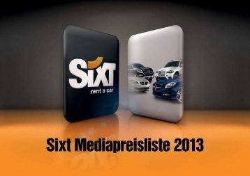Sixt MediaKit 2013 - Sixt AG